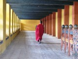 in the dzong's hallway