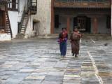 inside the Wangdue Phodrang dzong