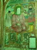 Beautiful mural with the Prophet's face left blank.