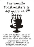 Parramatta Toastmasters Celebrates 45th Birth Day