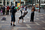 Buskers with skipping rope