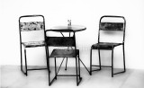 Table for three in monochrome