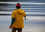 Fisherman at Akuna Bay