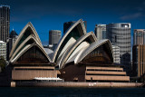 Sydney Opera House with city backdrop