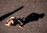 Shadow of aboriginal dancer