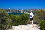 Fred at Dobroyd Head looking towards Balmoral Beach