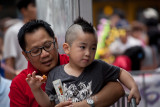 Vietnamese boy with mohican haircut
