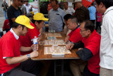 Chinese chess game in progress
