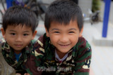 Smiling boys at  Freedom Plaza, Cabramatta