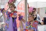 Vietnamese dancers at festival