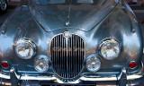 Blue Jaguar car