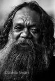Close up of Australian aborigine