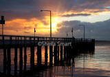 Salamander Bay with fishermen at sunrise