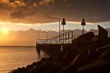 Wharf at Salamander Bay at sunrise