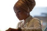 Girl in turban in color