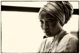 Young woman in turban on ferry