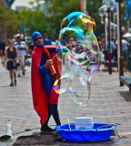 Busker with bubble