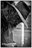 Akubra man in monochrome