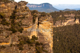 Blue Mountains with rock climbers