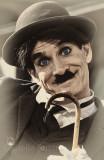 Charlie Chaplin busker
