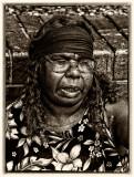 Sonda Turner Nampitjinpa close up in monochrome