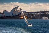 Yacht with Sydney Opera House backdrop