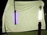 Black light set-up.