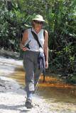Julie on walk for cold coke
