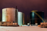 Silos at Night