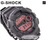 CASIO G-SHOCK SUPER LED 7 YEAR BATTERY GD-100 GD-100MS GD-100MS-1A ALL BLACK
