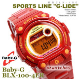 CASIO BABY-G G-LIDE TIDE GRAPH BLX-100 BLX-100-4 RED FIRE