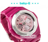 CASIO BABY-G GEMMY DIAL BGA-104 BGA-104-4B2 SPRINKLE OF SMALL STARS RED FACE
