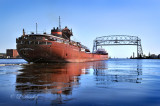 94.1 - Duluth Harbor:  Ore Boat Charles M. Beeghley Heading Out To Lake Superior