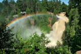 56.3 - Pattison State Park:  Big Manitou Falls With Rainbow, Floodwaters