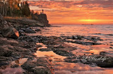 43.4 - Sunrise At Split Rock Lighthouse With Ore Boat