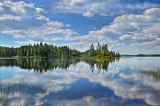 105.9 - Oil:  Arrowhead, Minnesota:  Homer Lake -- Photograph With Oil Paint Effect