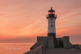 96.1 - Duluth Harbor:  North Breakwater Light At Dawn