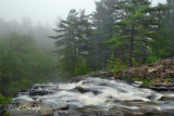12.1 - Chester Creek, Top Of Falls, Early Morning Fog