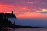 26 - Split Rock Lighthouse, Fog And A Fiery Sunrise