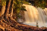 *** 21 - Gooseberry Middle Falls, Golden Light