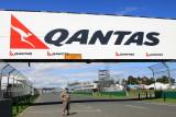 Warren on the track, Formula One motor racing Melbourne.