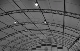 The ceiling of the  Waitakere Indoor Netball Centre, Henderson, Auckland.