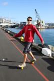 Takin a roll - Princes Wharf, Auckland City