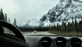Heading through the Rockies... a highlight of my trip.