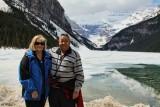 Dawn and Warren Lake Louise, Rocky Mountains.