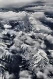 Flying between Calgary and Vancouver Island..