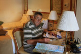 Warren plotting the course for the Captain..lol