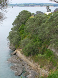 The cliff below our house