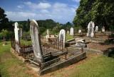 Graves in need of repair in Leigh.