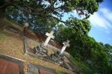 Two crosses.